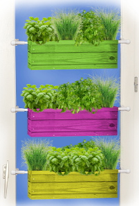 jardinière en bois sur mesure et colorée
